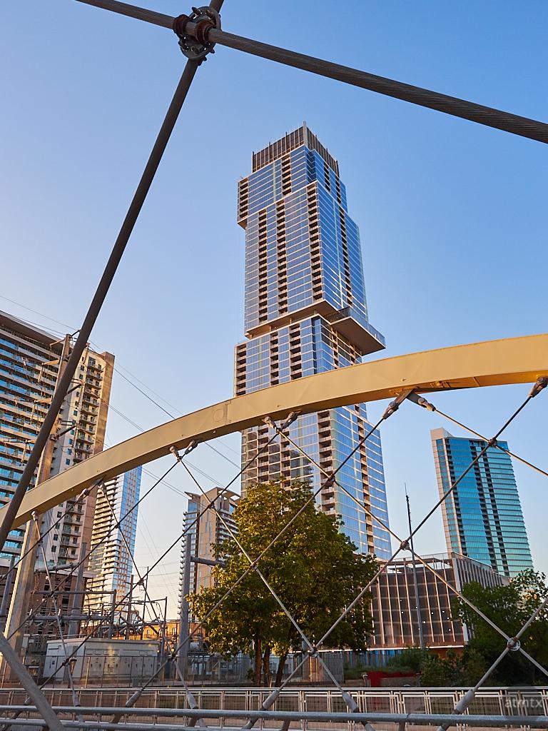 Framed by the 2nd Street Bridge - Austin, Texas