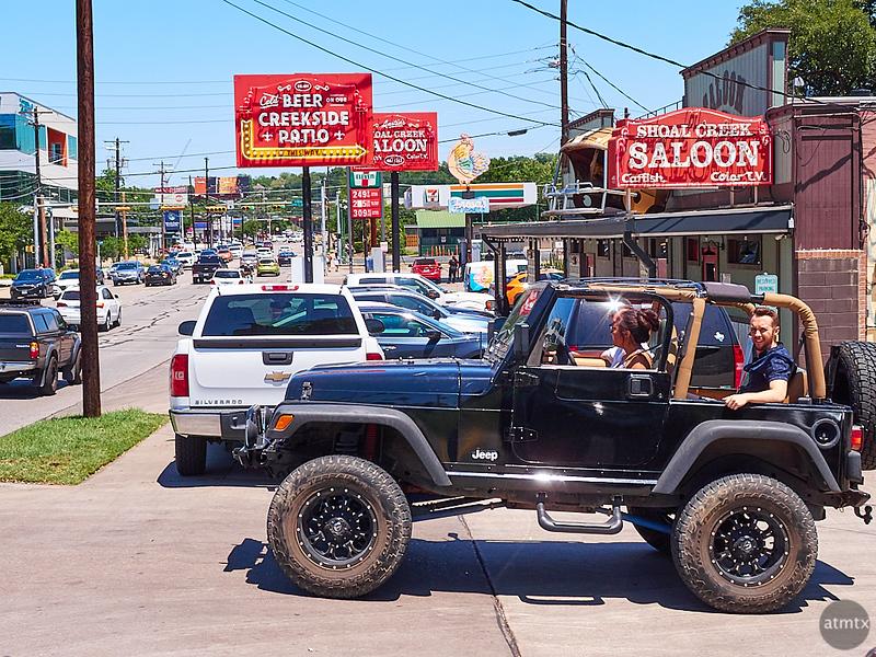 Jeep at Shoal Creek Saloon - Austin, Texas