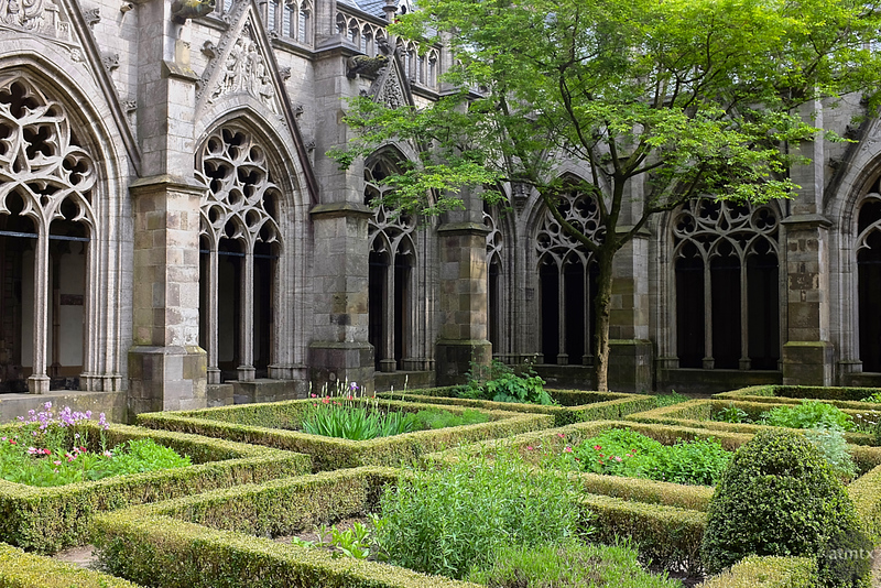 Pandhof Garden, Dom Church - Utrecht, Netherlands