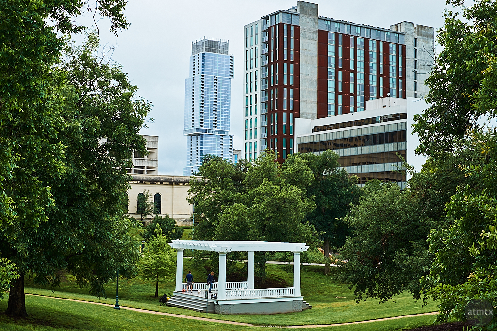 Wooldridge Square and Skyline - Austin, Texas