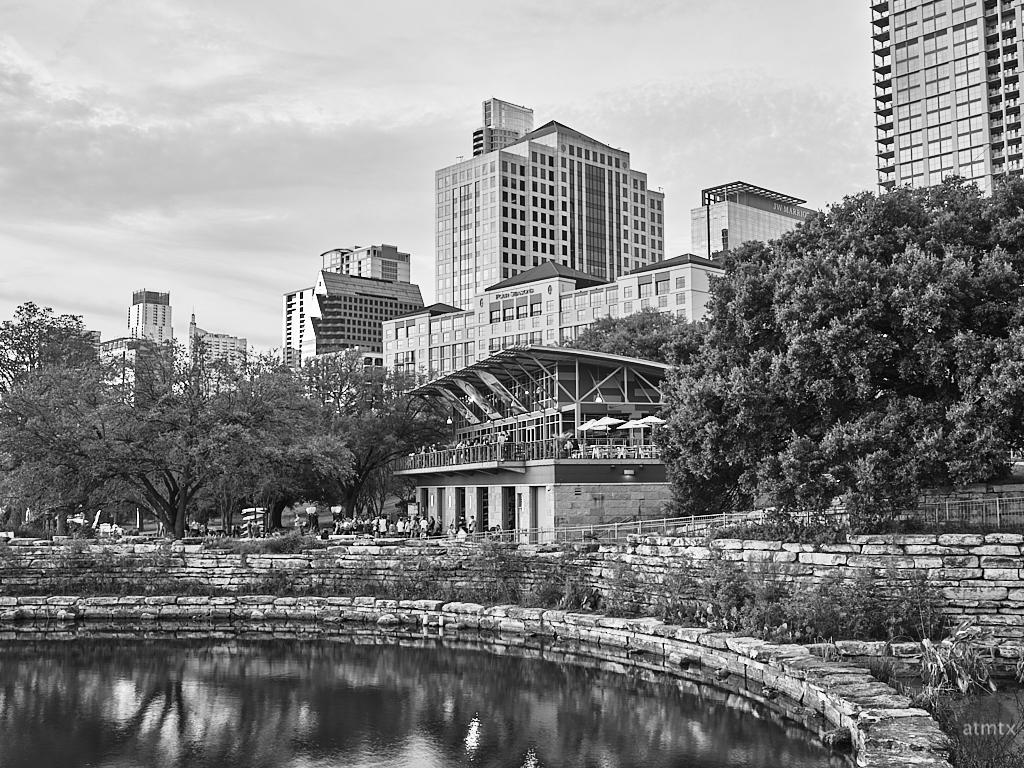 Boathouse and Skyline - Austin, Texas