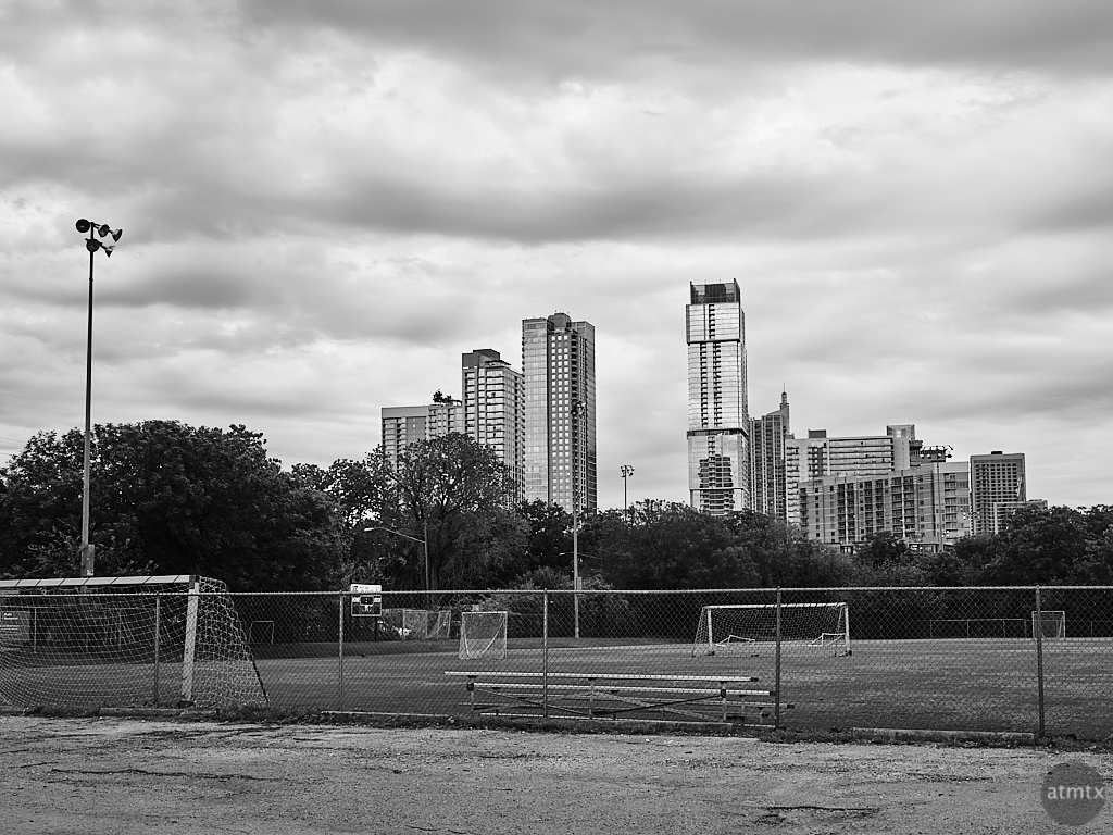 Soccer Field and Skyline - Austin, Texas