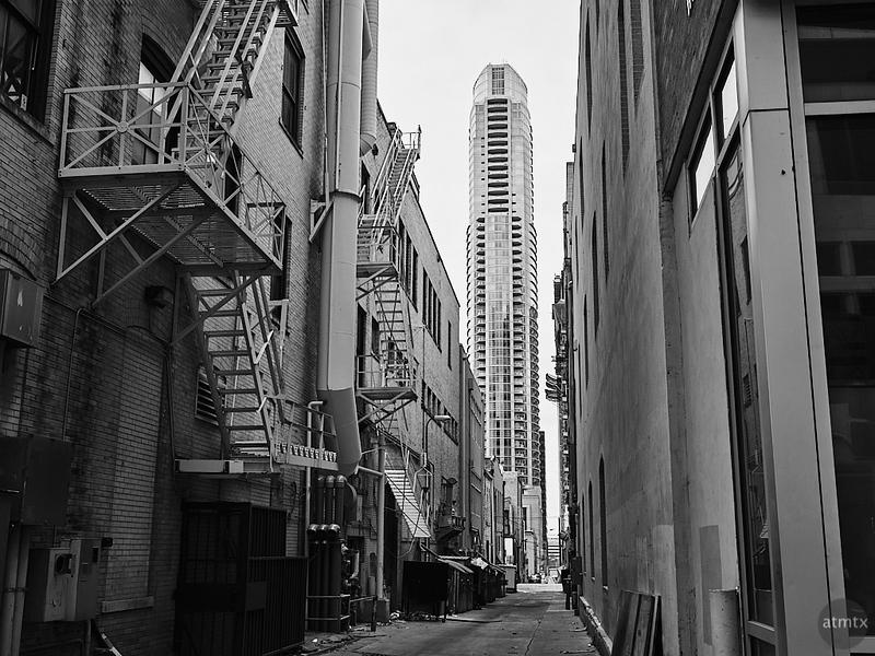 Austonian and Alleyway - Austin, Texas
