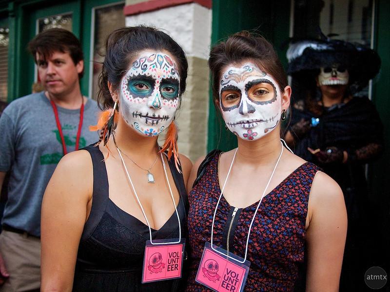 Regina and Mariana, Dia de los Muertos - Austin, Texas