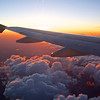 In Flight Sunrise - Over the Western United States