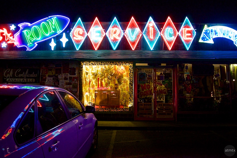 Neon, Room Service Vintage - Austin, Texas