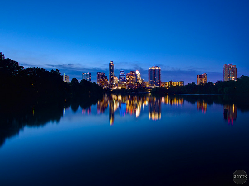 Skyline from the Boardwalk (wide) - Austin, Texas