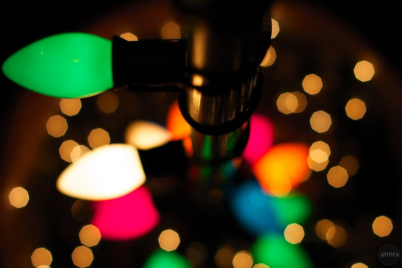Colorful Lights in SoCo - Austin, Texas