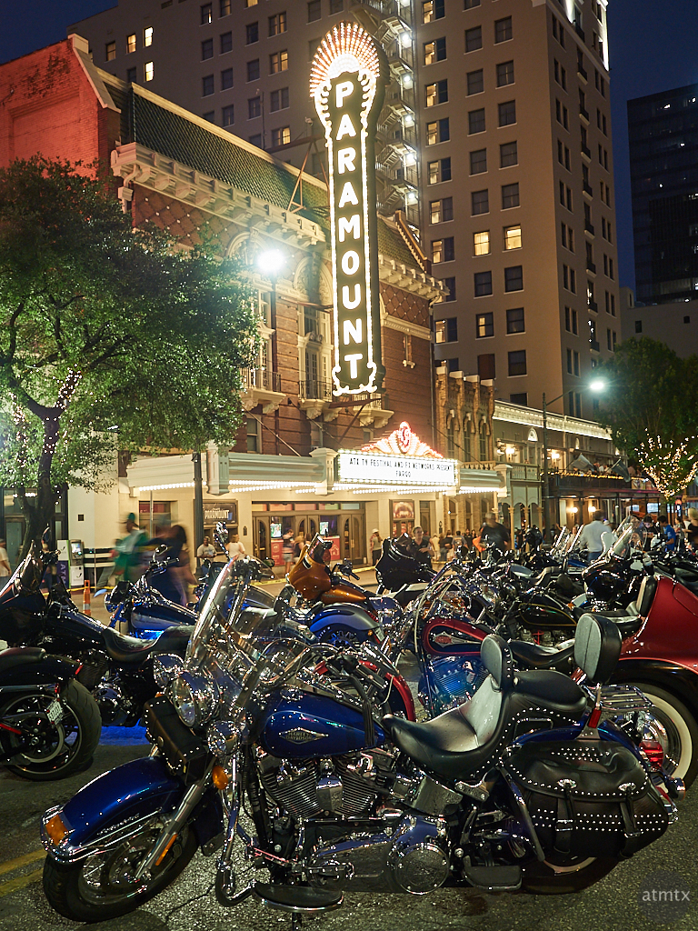 Harleys at the Paramount, ROT Rally - Austin, Texas