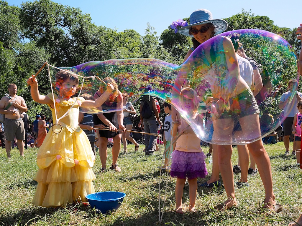 Amazing Bubble, Eeyore's Birthday Party 2015 - Austin, Texas
