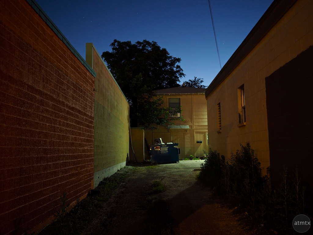 Blue Hour Alleyway, Burnet Road - Austin, Texas