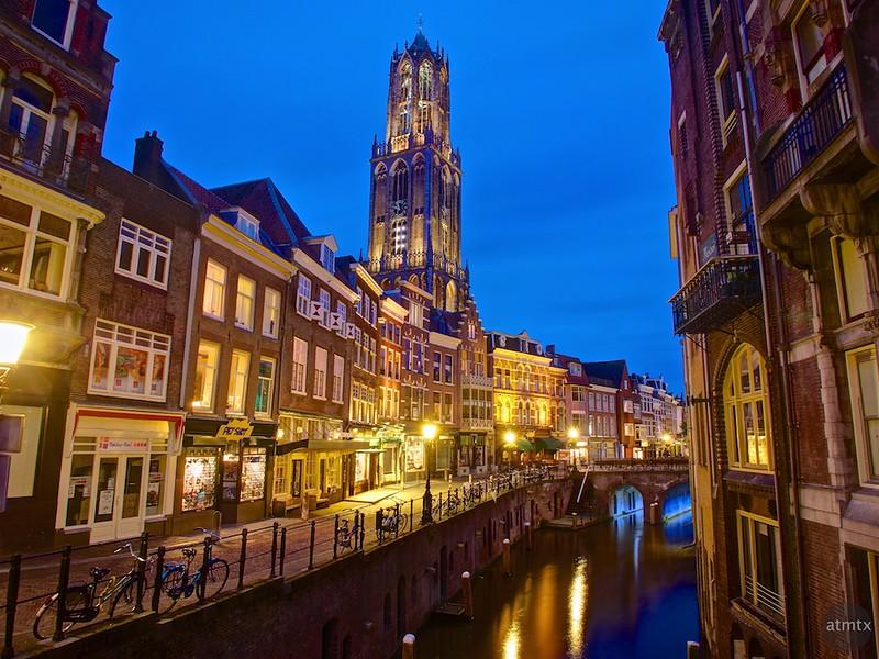 Dom Tower at Blue Hour - Utrecht, Netherlands