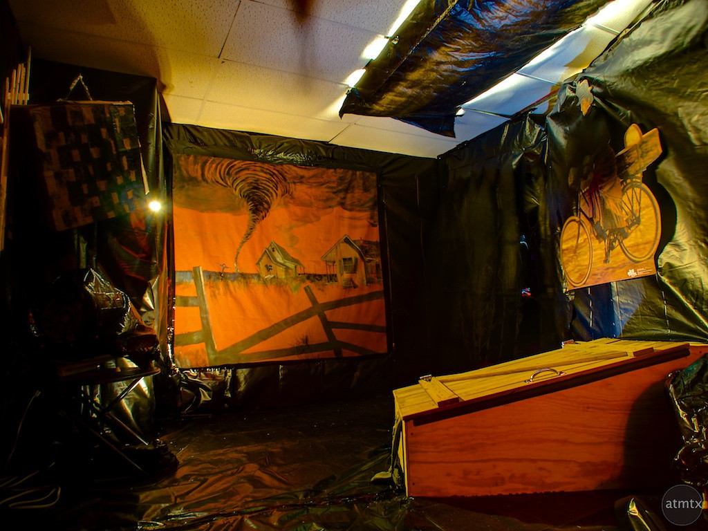 Tornado Room, Wizard of Oz Themed Haunted House - Austin, Texas