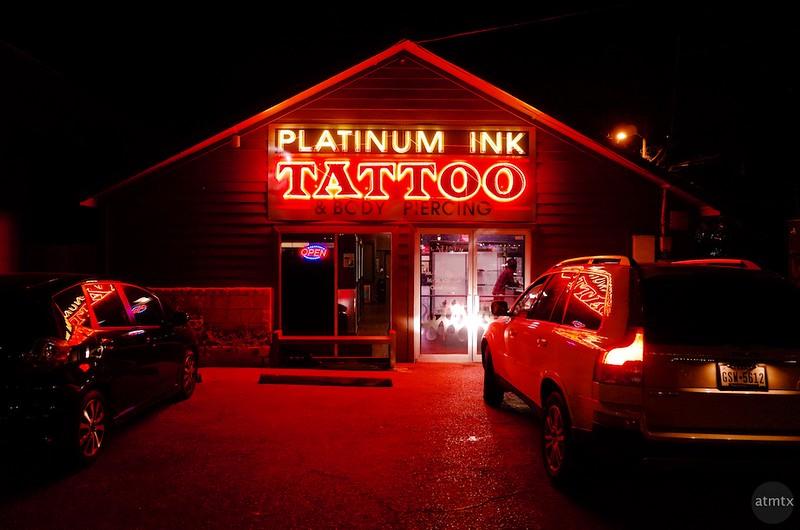 Red Neon, Platinum Ink Tattoo - Austin, Texas