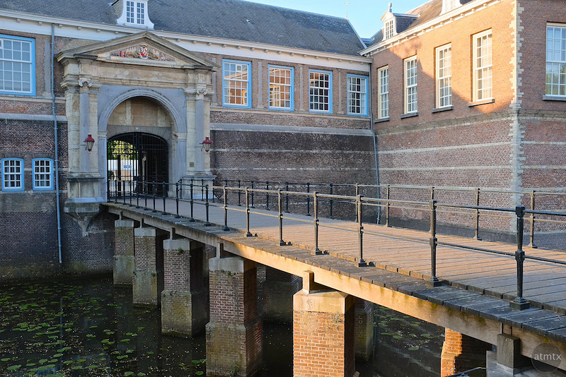 Moat and Bridge, Breda Castle - Breda, Netherlands