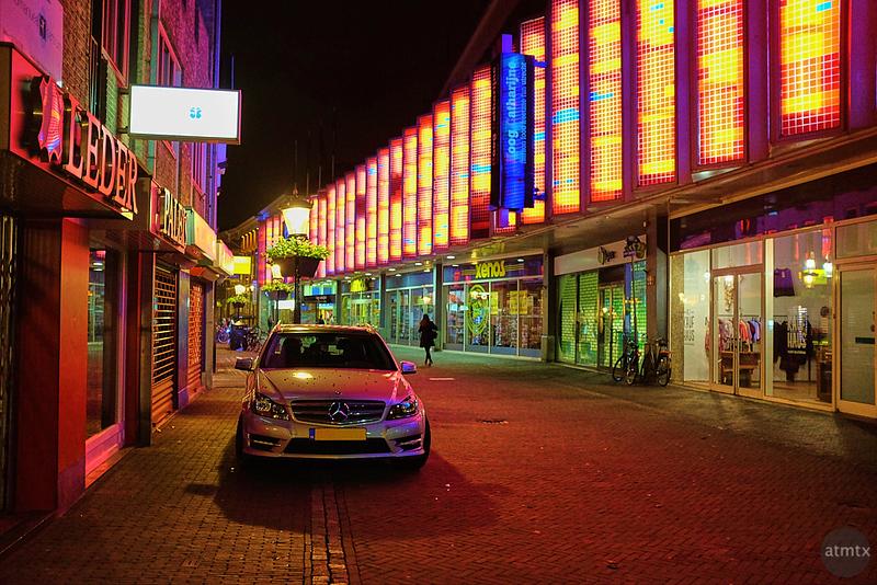Mercedes on a Colorful Street - Utrecht, Netherlands