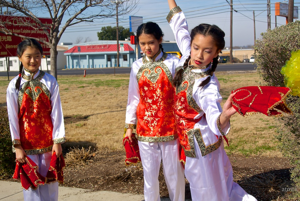 Practicing, 2014 Chinese New Year Celebration - Austin, Texas