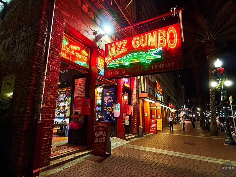 Jazz Gumbo Neon - New Orleans, Louisiana