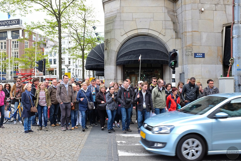 Tourist Crowds - Amsterdam, Netherlands
