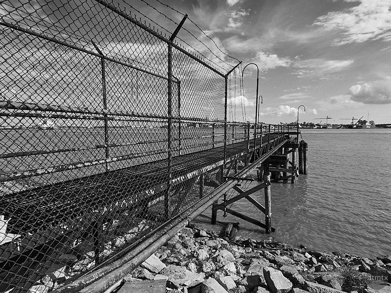 Metal Pier at the Mississippi - New Orleans, Louisiana