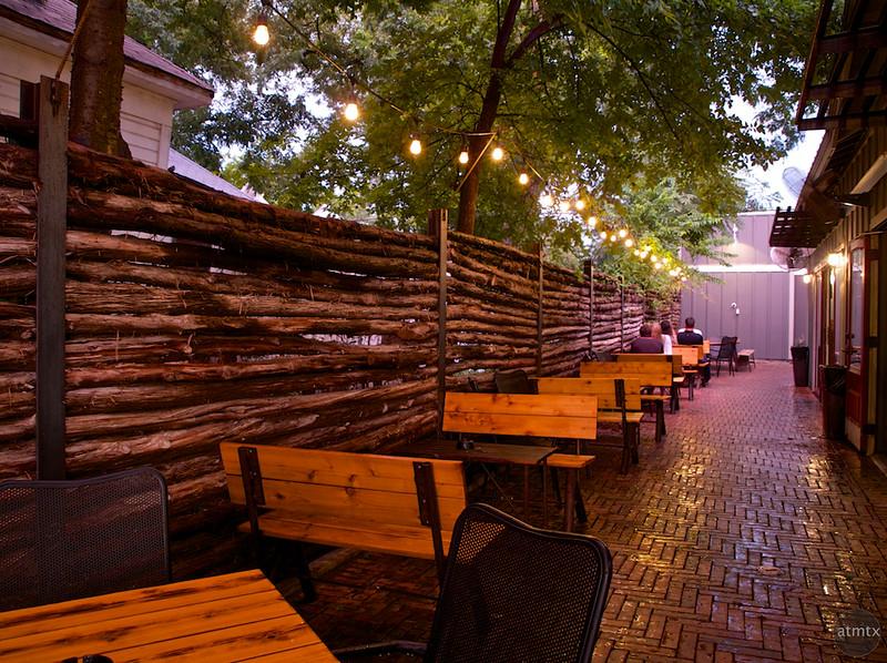 Textured Fence, Rainey Street - Austin, Texas