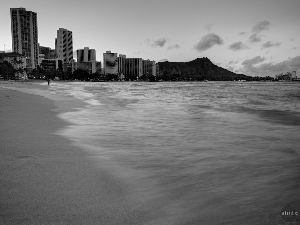 Water in motion waikiki beach honolulu hawaii