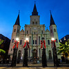 Blue Hour, St. Louis Cathedral - New Orleans, Louisiana