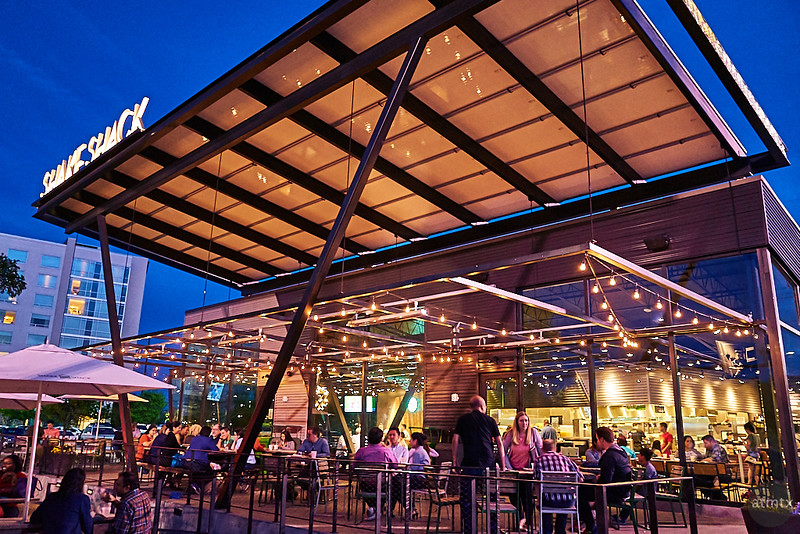 Shake Shack Blue Hour - Austin, Texas