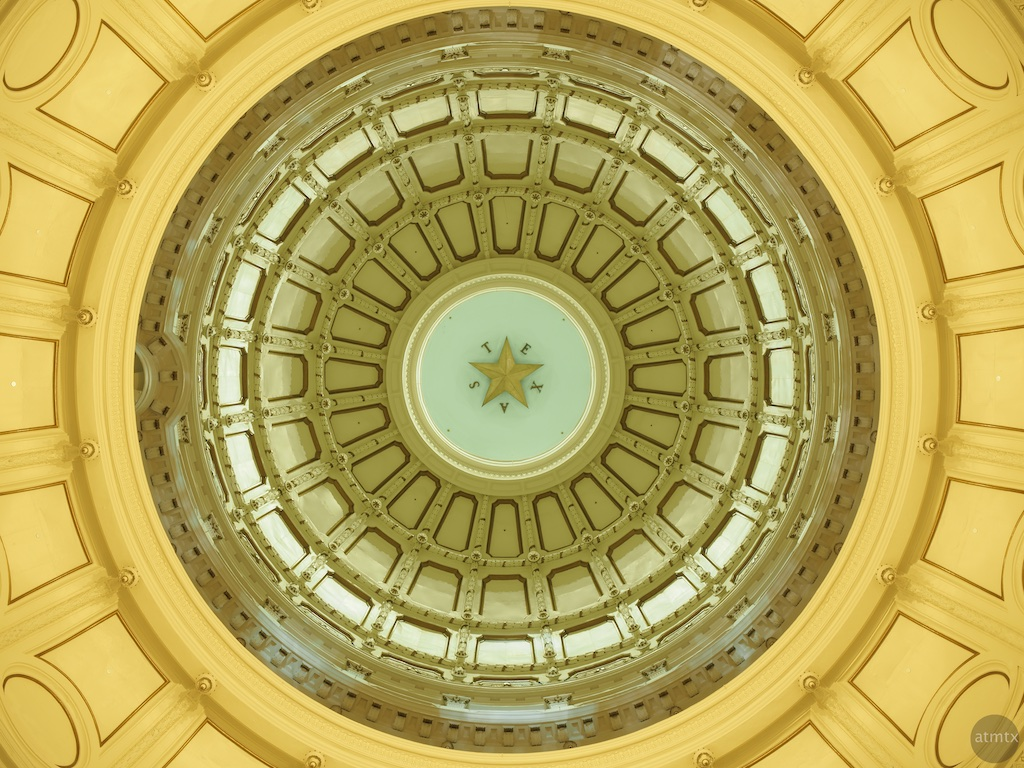 Dome Ceiling, Texas State Capitol - Austin, Texas