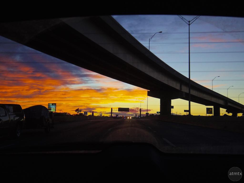 Highway Sunset - San Antonio, Texas