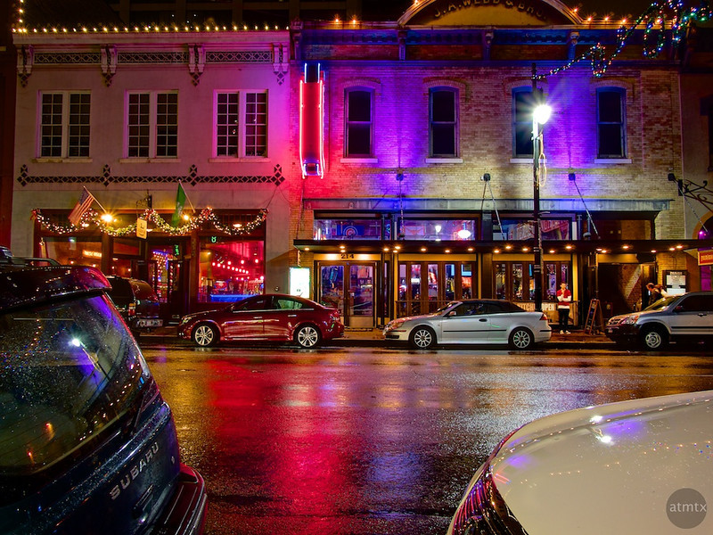 Colorful Bars Across the Street, 6th Street - Austin, Texas