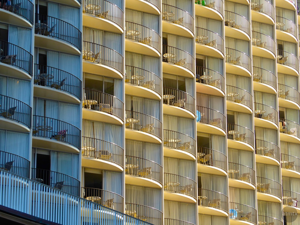 Balconies Lit and Unlit - Honolulu, Hawaii