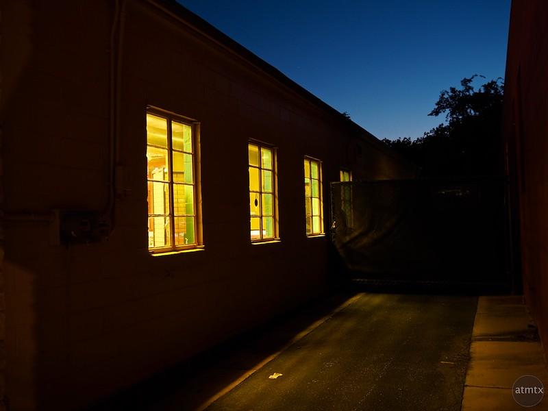 Three Windows at Blue Hour, Burnet Road - Austin, Texas