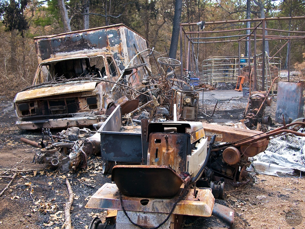 Garage Remnants, Bastrop Fire - Bastrop, Texas