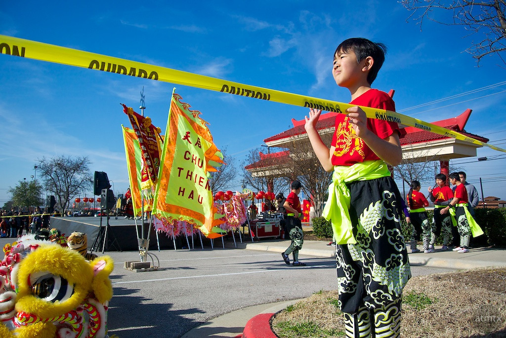 Waiting for it to start, 2014 Chinese New Year Celebration - Austin, Texas