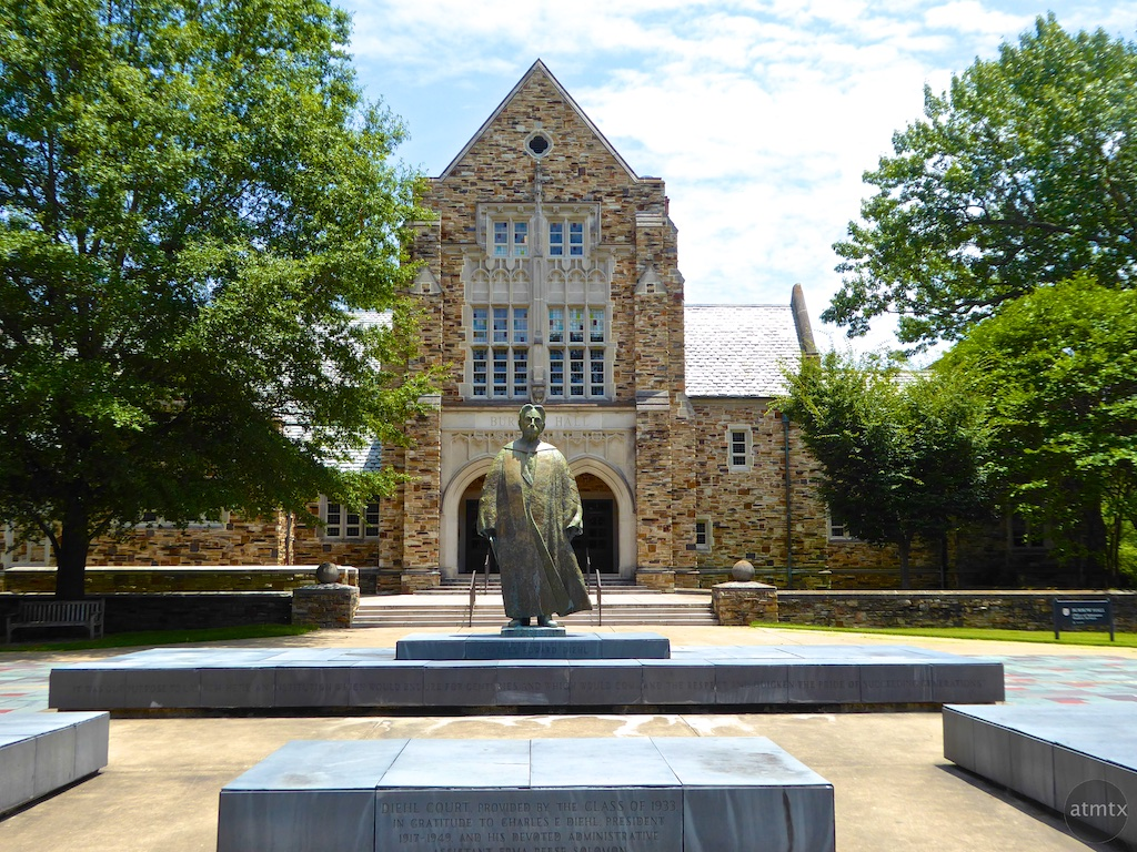 Burrow Hall with Statue, Rhodes College - Memphis, Tennessee