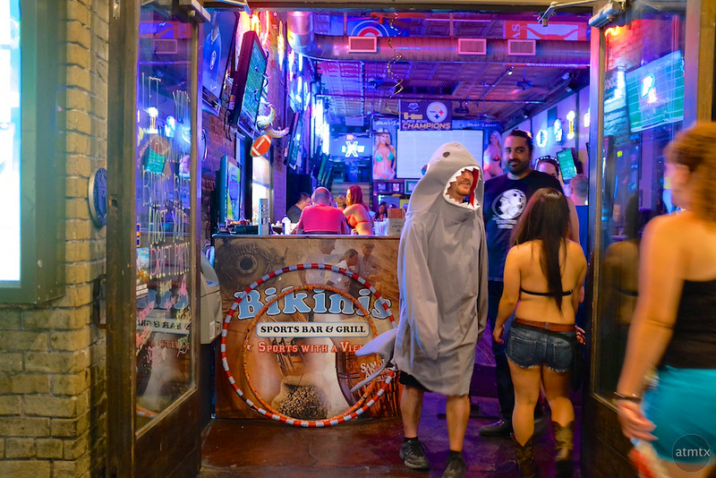 A Shark at Bikinis, 6th Street - Austin, Texas