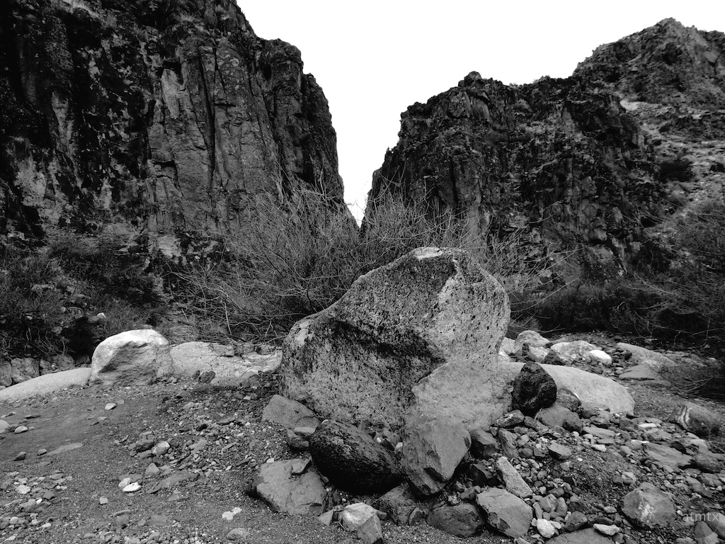 Giant rock at Closed Canyon - Big Bend Ranch State Park, Texas