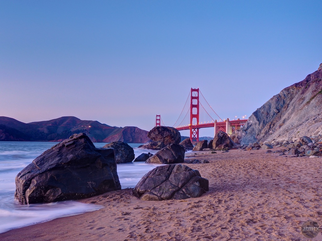 Golden Gate Bridge from Marshall's Beach - San Francisco, California