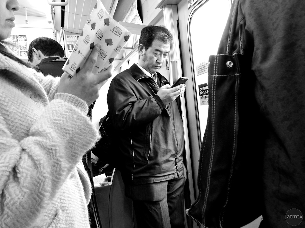 Checking Status - Train in Japan