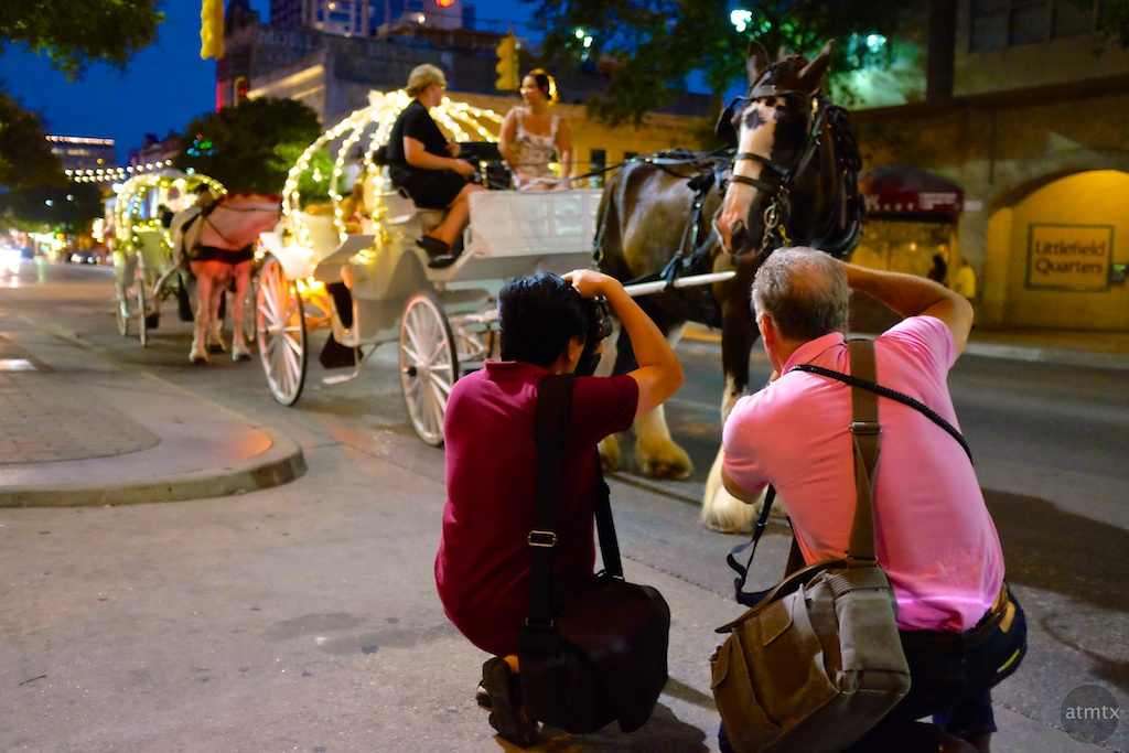 Photographers in Action, 6th Street - Austin, Texas