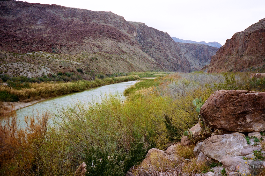 Rio Grande at the Rest Stop #2 - Big Bend Ranch State Park, Texas