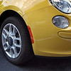 Yellow Fiat 500 - Austin, Texas