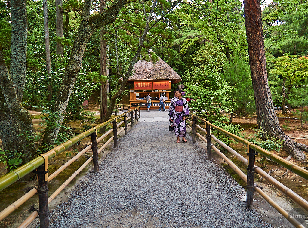 Wooded Path, Kinkakuji - Kyoto, Japan
