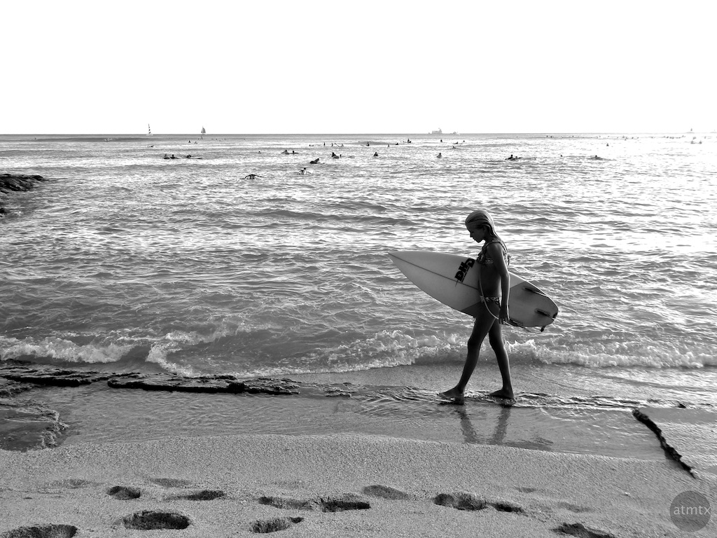 Surfer Girl, Waikiki Beach - Honolulu, Hawaii