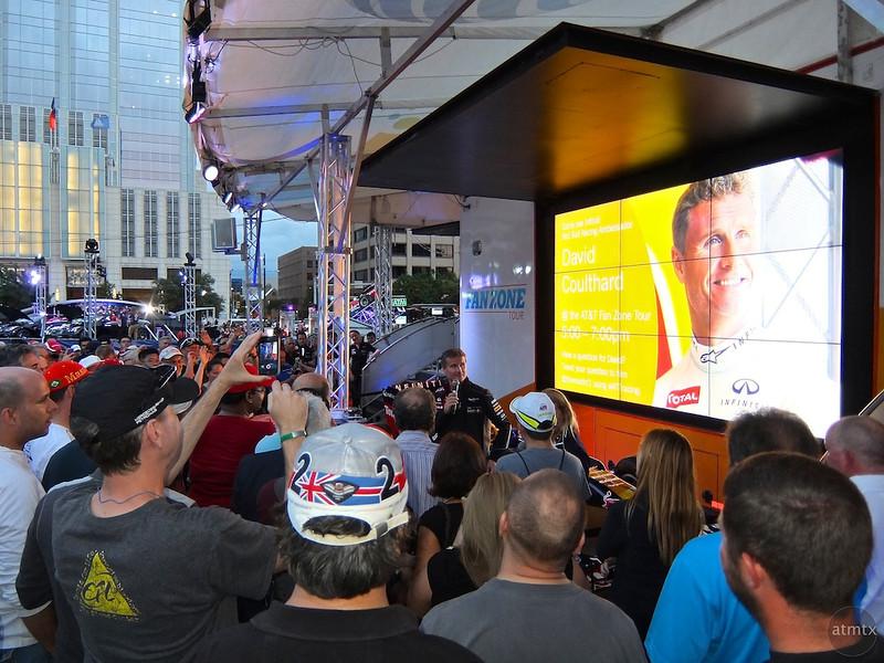 David Coulthard,  Austin Fan Fest, Austin, Texas