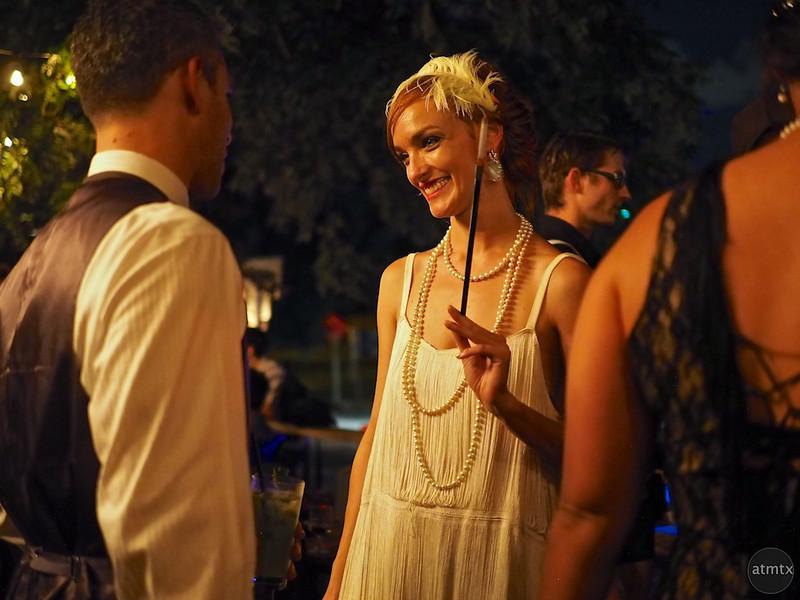 Anne as a flapper, Javalina Bar - Austin, Texas
