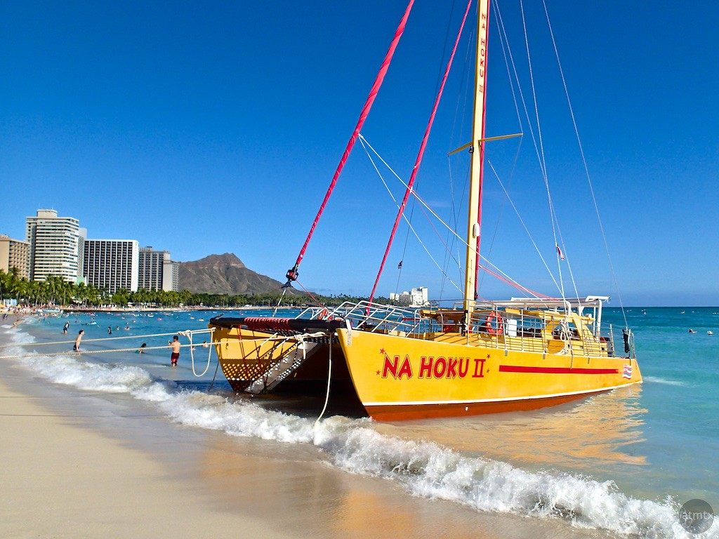 Na Hoku II on Waikiki Beach - Honolulu, Hawaii