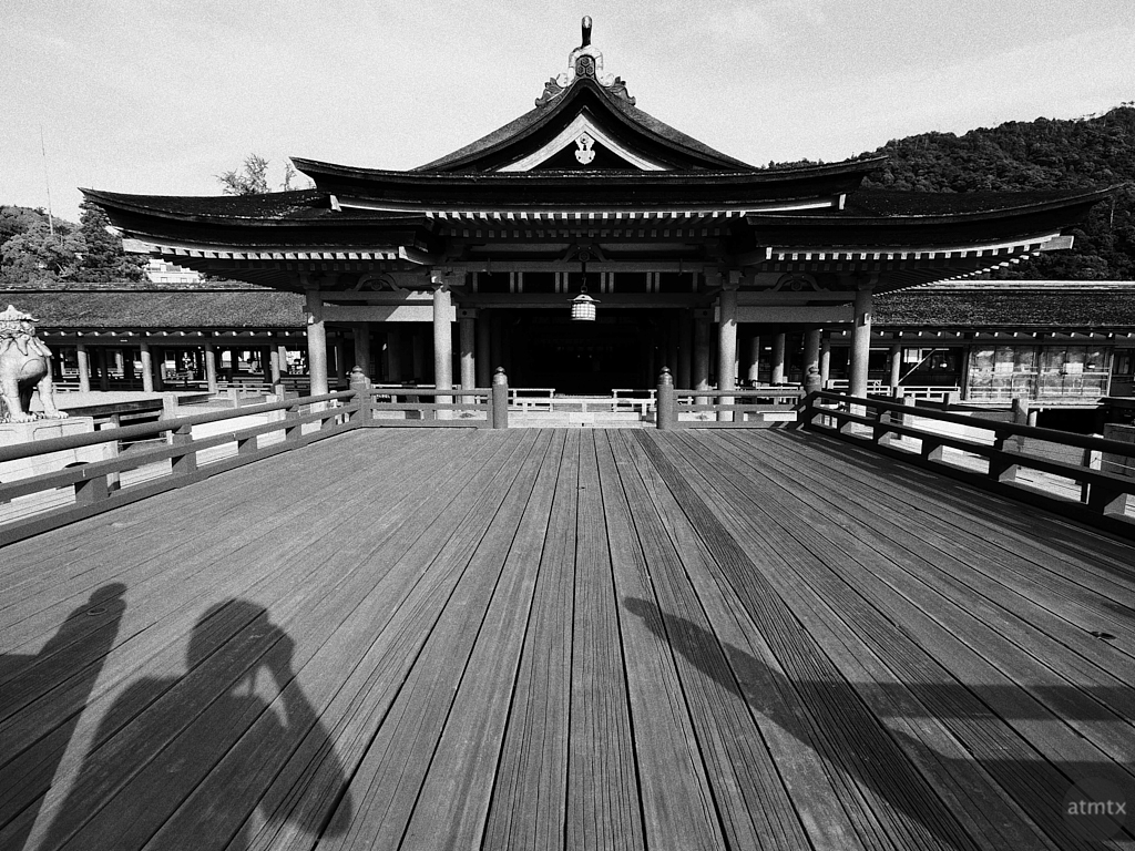 Itsukushima Shrine Monochrome - Miyajima, Japan