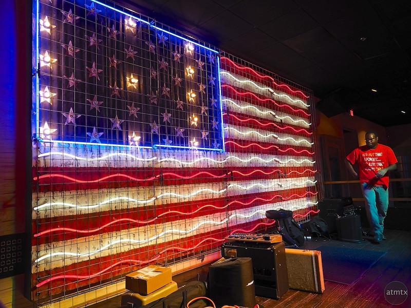 Neon U.S. Flag, 6th Street - Austin, Texas